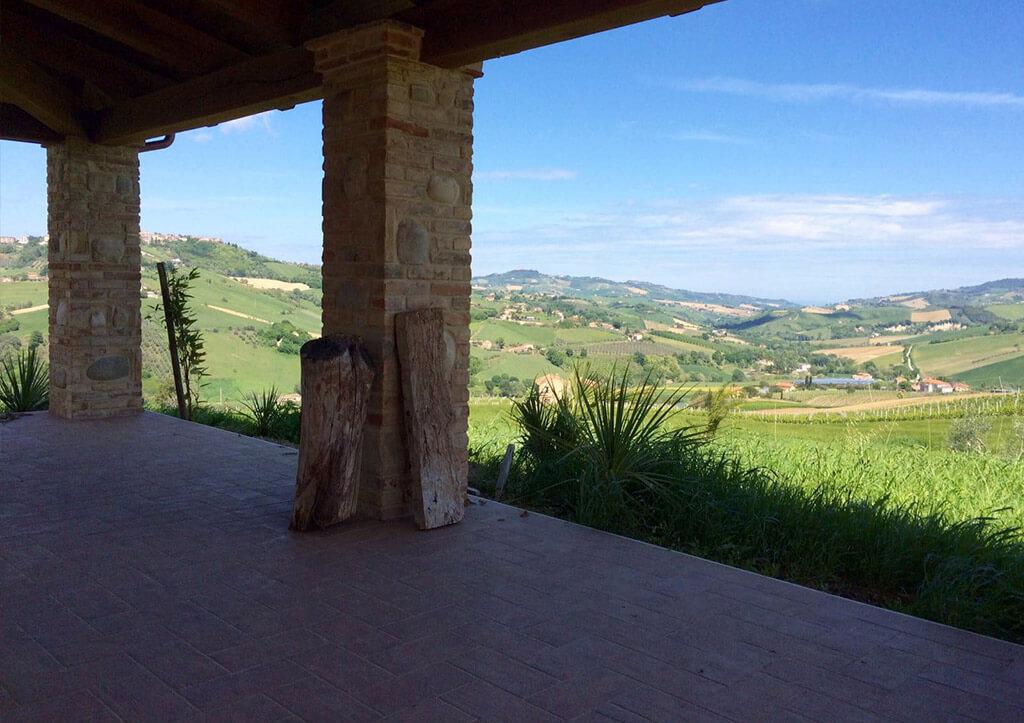 Terrasse von Casa dall'artista