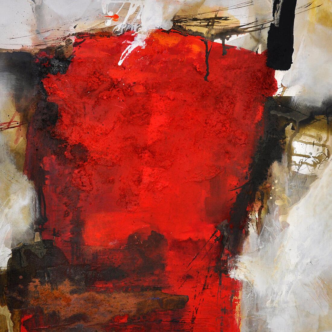Mensch im Raum II 80x80 2010
